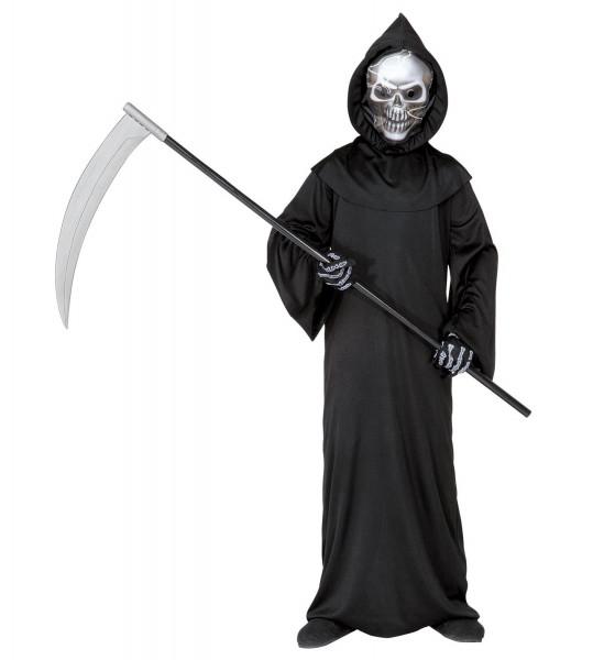 Sensenmann Kostüm |geeignet für Kinder von 8-10 Jahre | inkl. Sense 107cm lang