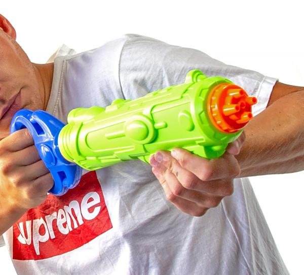 MEGA XXL Wasser-Gewehr Pistole 45cm Spritz-Waffe Kinder Sommer Spielzeug Water-Blaster Galaxie-Waffe