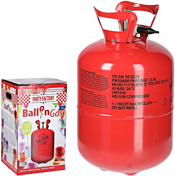 Helium XL Gas Flasche Ballongas für ca. 50 Ballons | Gasflasche für Luftballons | ideal für Hochzeit