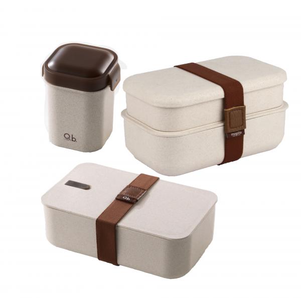 3er Bento Box Set für Erwachsenen, Jugendliche & Kinder | 3-teiliges Set bestehend aus Reisfasern  | 0,38 Liter, 1,1 Liter und 1,2 Liter Fassungsvermögen | Brote, Obst, Snacks, Salate, Joghurt und Suppen | ideal für Jause, Vesper, Meal-Prep |