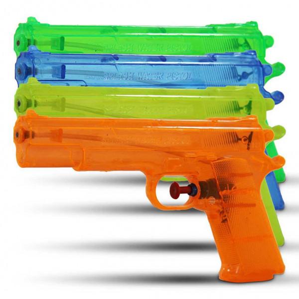 12 x Wasserpistole transparent 24cm Wasser Pistole
