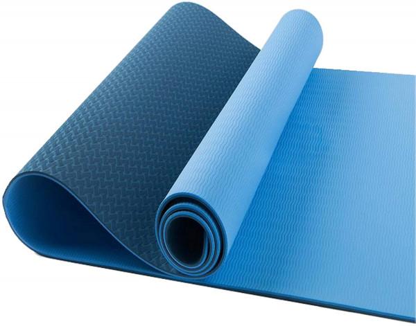 Yogamatte rutschfest - Sportmatte, Gymnastikmatte, Fitnessmatte, Trainingsmatte mit Tragegurt - Schadstofffrei Yoga Matte Ideal für Sport, Fitness und Yoga zuhause - 183cm x 60cm x 10mm