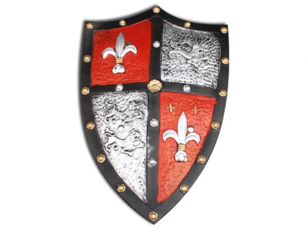 Ritterschild aus Latex | Kreuzritter Schild für Karneval - Halloween Zubehör