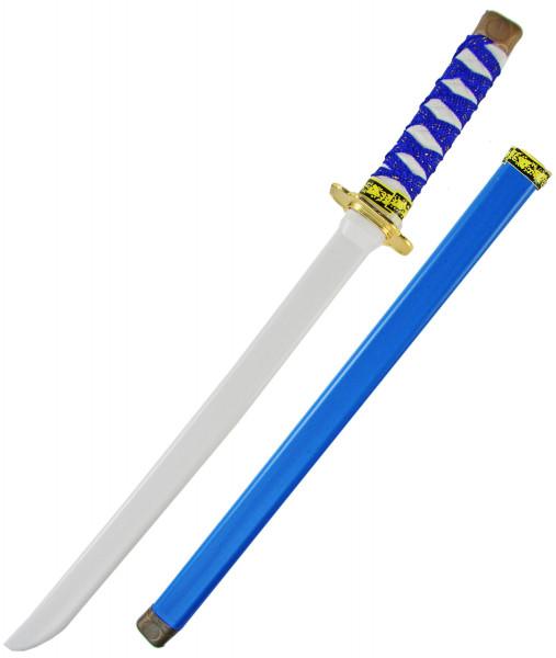 Ninja Katana Samurai japanisches Schwert - blau, Kinder (Junge, Mädchen), Verkleidung, Fasching, Karneval & Halloween, Spielzeug Kostüm Zubehör