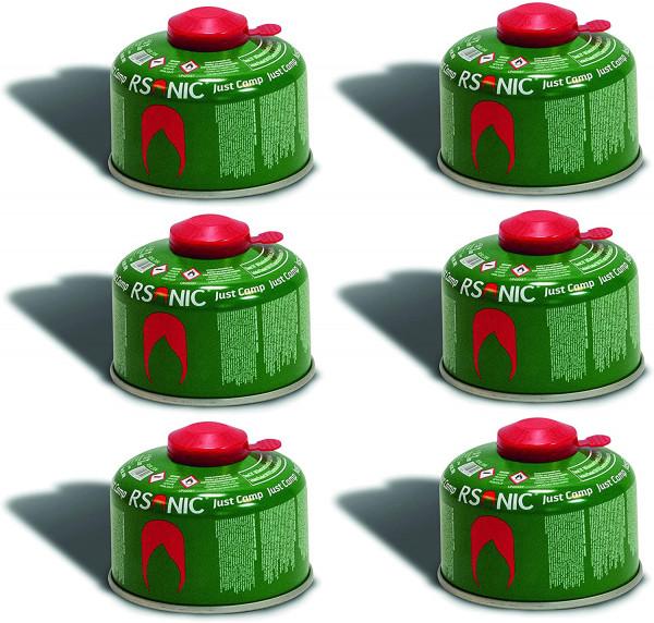 6 x 100g Schraubventilkartusche, Camping-Gas Butan-Propan Gas Kartusche für Campingkocher, Gaskartusche Schraubventil Gewinde