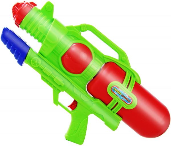 Water Shooter Wasser-Pistole 44cm Kinder-Spielzeug Rot Grün Wasser-Spritze Sommer-Spielzeug Spielzeug-Pistole Wasser-Gewehr Aqua-Gun Pool-Kanone Planschbecken-Pistole Garten-Party Spielzeug-Waffe Swimming-Pool-Gun