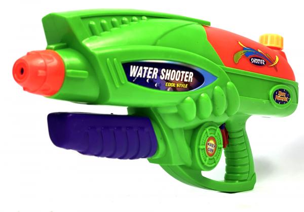 Wasserpistole - Spritzpistole mit 45cm Länge | XXL Tank | tolles blau-silber Wassergewehr für mega Wasserschlachten und Pool-Partys |