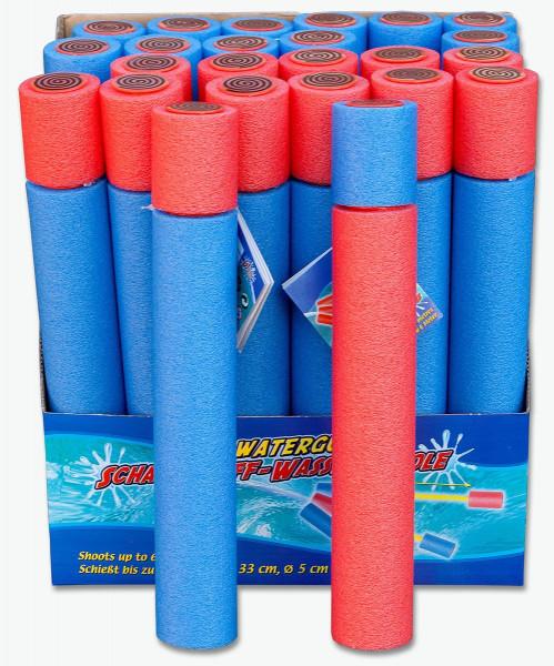 Schaumstoff Spritze ca. 60cm lang | 6er Set Poolspritze | Wasserspritzpistole Ø 5cm | Wasserpistole 6m Reichweite
