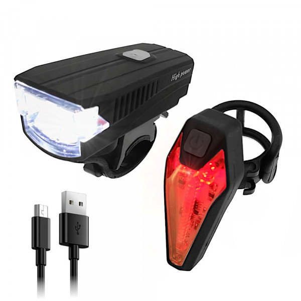 LED Fahrradlicht Set | StVZO zugelassen | Fahrradbeleuchtung | Signalsirene | Vorderlicht Rücklicht | 6 Std. Akku Laufzeit | spazieren oder Jogging | Fahrradlichter über USB laden | Rücklicht mit vier Farbmodi | einfache Montage | IPX4 Wasserdicht