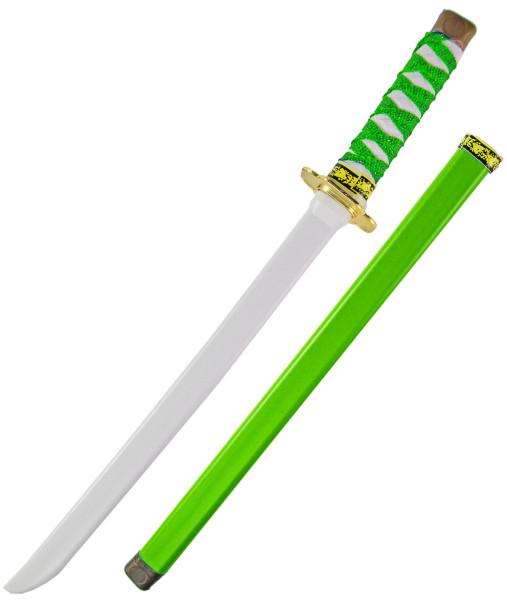 Ninja Katana Samurai japanisches Schwert - grün, Kinder (Junge, Mädchen), perfekte  Verkleidung, Fasching, Karneval & Halloween, Kunststoff Spielzeug Kostüm Zubehör