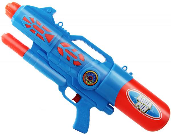 Mega Blaster Wasser-Pistole 60cm Kinder-Spielzeug Blau Rot Wasser-Spritze Sommer-Spielzeug Spielzeug-Pistole Wasser-Gewehr Aqua-Gun Pool-Kanone Planschbecken-Pistole Garten-Party Spielzeug-Waffe Swimming-Pool-Gun