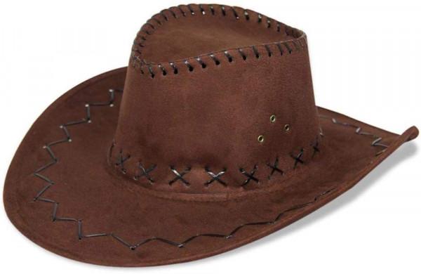 Cowboyhut in braun   Cowboykostüm   Karneval Fasching   Westernhut   Wildlerderoptik   Abenteurerhut   Kopfbedeckung für Karneval