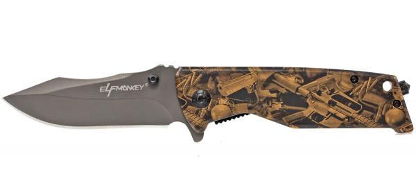 Klappmesser extra Scharf gebogen Klinge Taschenmesser Waffen Muster Einhandmesser Survival Outdoor