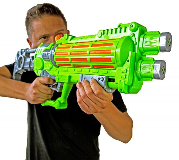Wasser-Gewehr XXL 75 cm mit großer Reichweite Sommer-Spielzeug Garten und Strand Spritz-Pistole für Kinder und Erwachsene