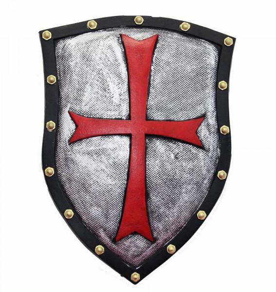 Kreuzritter Schild aus Latex | Ritterschild für Karneval - Halloween Zubehör