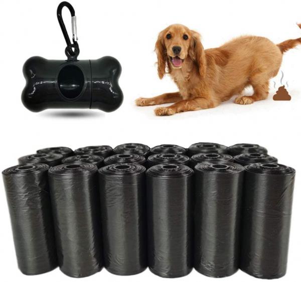 300 Stück Hundekotbeutel mit Beutelspender und Leinenclip | Hundekot | Hundebeutel | Tüte für Hunde | farblich sortiert | einfach mitzunehmen | Hundespaziergang | Sackerl fürs Gackerl