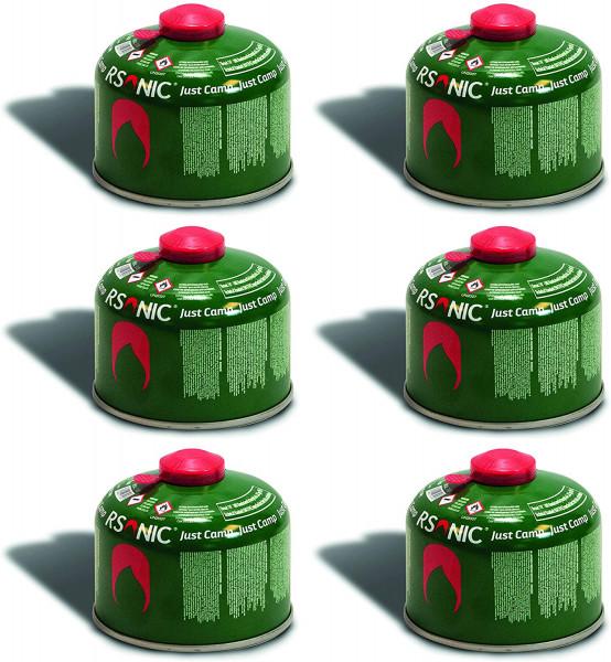 6 x 230g Schraubventilkartusche, Camping-Gas Butan-Propan/Ventil Gas Kartusche für Campingkocher, Gaskartusche mit Schraubventil Gewinde