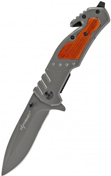 Klappmesser edles Holzverzug | Taschenmesser Survival Outdoor | Einhand-Rettungsmesser extra Scharf