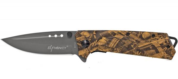 Klappmesser extra Scharf 21,5cm Taschenmesser Waffen Carmoflash Einhandmesser Glasbracher Survival Outdoor