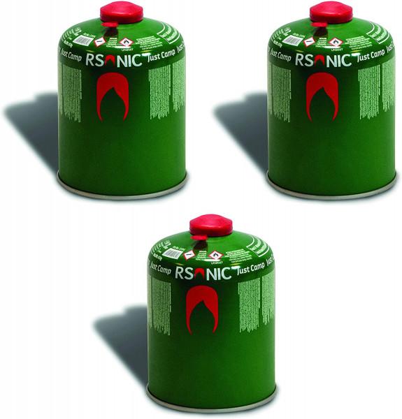 3 x 450g Schraubventilkartusche, Camping-Gas Butan-Propan/Ventil Gas Kartusche für Campingkocher, Gaskartusche mit Schraubventil Gewinde