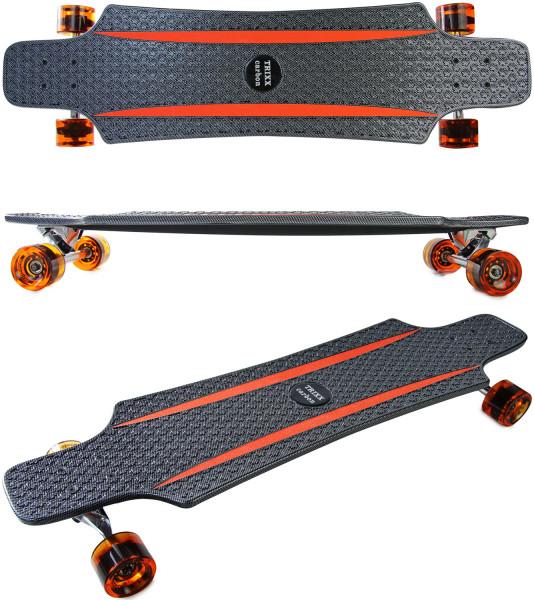 Longboard Komplettboard | hochwertige Boards - ideal für Anfänger & Profis | Trixx Carbon
