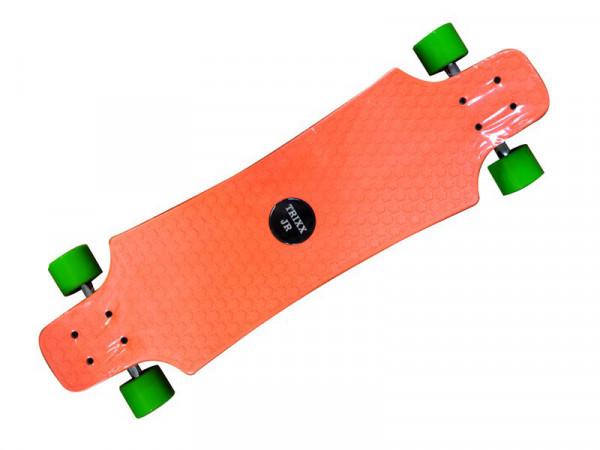 Longboard Komplettboard | hochwertige Boards - ideal für Anfänger & Profis | Trixx JR Orange