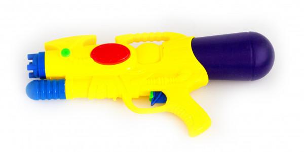 Wasser-Pistole Kinder-Spielzeug Gelb Rot Blau 38cm Wasser-Spritze Sommer-Spielzeug Spielzeug-Pistole Wasser-Gewehr Aqua-Gun Pool-Kanone Planschbecken-Pistole Garten-Party Spielzeug-Waffe Swimming-Pool-Gun