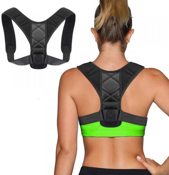 Körperhaltung-Korrektor für Damen und Herren, Rückenstütze Haltungstrainer,Verstellbar Atmungsaktiv Haltungstrainer Geradehalter Körperhaltung und Unterstützung