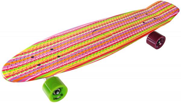 Longboard Komplettboard | hochwertige Boards - ideal für Anfänger & Profis | Color Stripes