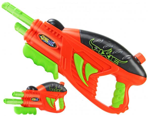 Wasser-Gewehr Kinder-Spielzeug Wasserspritze Spritz-Pistole Doppel-Schuss Sommer 45 cm