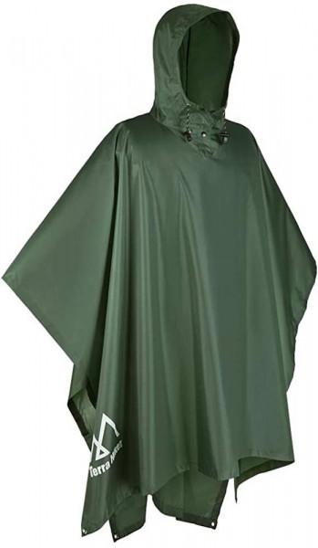 Regenponcho in grün | 3 in 1 Regenmantel | für Camping und Wandern | multifunktionaler Regenmantel | sehr wasserdicht