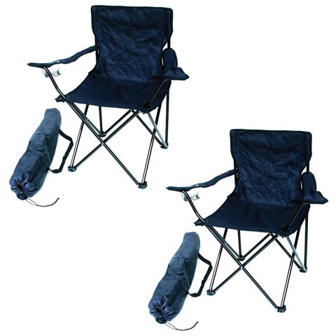 2er Set Campingstuhl blau