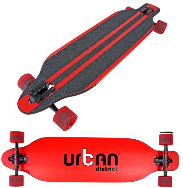 Longboard Komplettboard | hochwertige Boards - ideal für Anfänger & Profis | Urban District Red