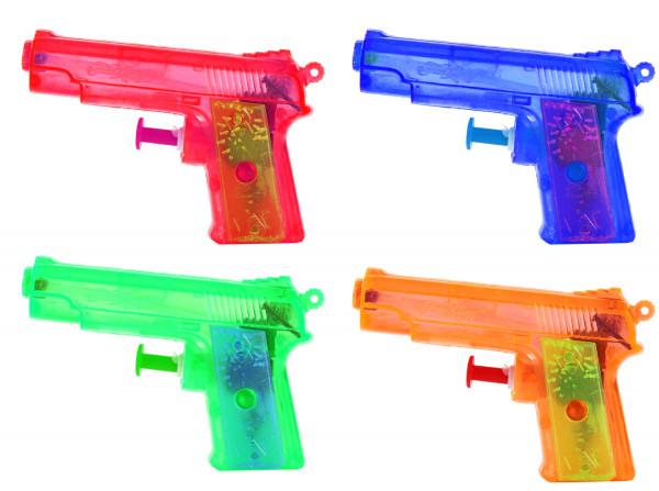 4x Mini-Wasser-Pistole für Riesen Sommer-Spaß Kinder-Spielzeug versch. Farben Wasser-Spritze Sommer-Spielzeug Spielzeug-Pistole Wasser-Gewehr Aqua-Gun Pool-Kanone Planschbecken-Pistole Garten-Party Spielzeug-Waffe Swimming-Pool-Gun