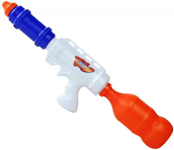 Fran Wasser-Pistole Kinder-Spielzeug Blau weiß Rot Wasser-Spritze Sommer-Spielzeug Spielzeug-Pistole Wasser-Gewehr Aqua-Gun Pool-Kanone Planschbecken-Pistole Garten-Party Spielzeug-Waffe Swimming-Pool-Gun
