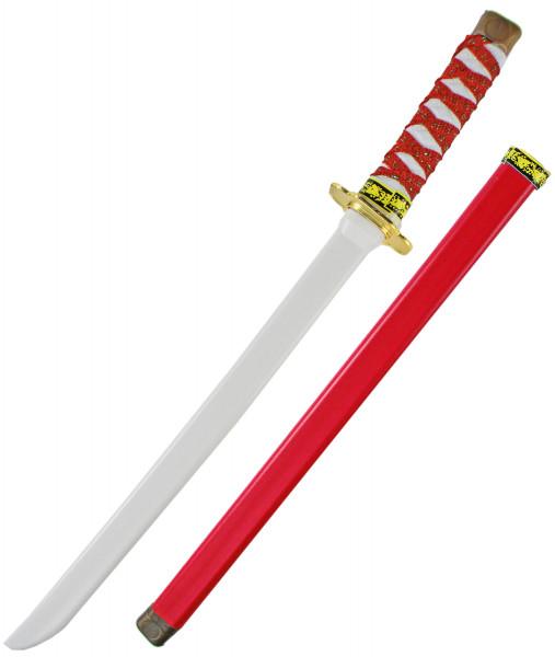 Ninja Katana Samurai japanisches Schwert - rot, Kinder (Junge, Mädchen), perfekte  Verkleidung, Fasching, Karneval & Halloween, Kunststoff Spielzeug Kostüm Zubehör