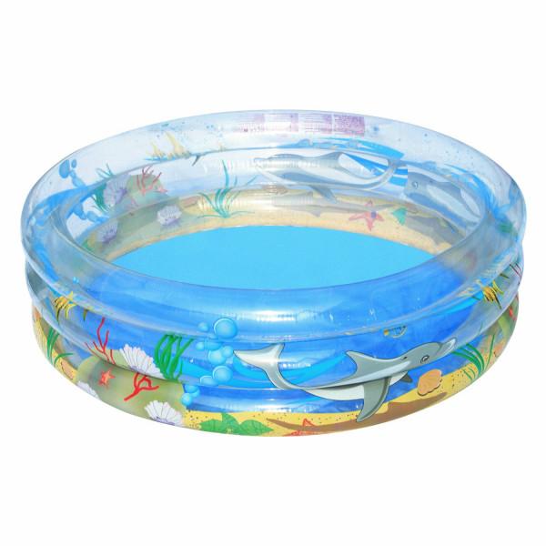 Planschbecken Transparent Sea Life, 150 x 53 cm