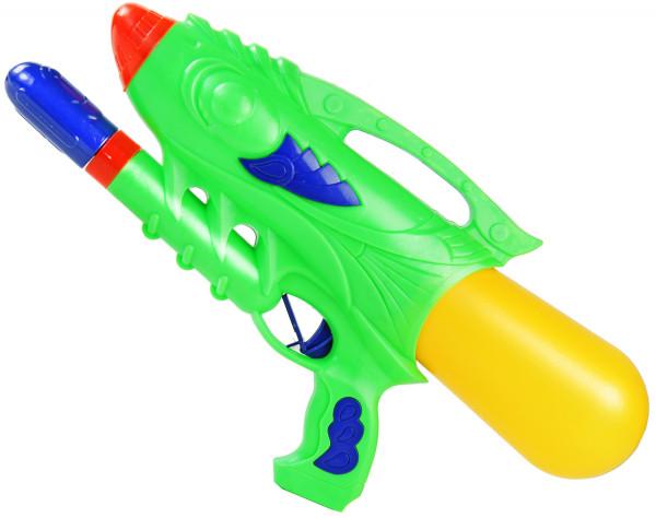 Water Attack Wasser-Pistole 33cm Kinder-Spielzeug Gelb Grün Wasser-Spritze Sommer-Spielzeug Spielzeug-Pistole Wasser-Gewehr Aqua-Gun Pool-Kanone Planschbecken-Pistole Garten-Party Spielzeug-Waffe Swimming-Poo