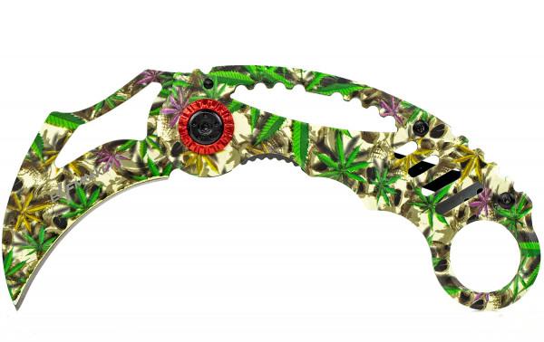 Karambit Klappmesser extra Scharf Taschenmesser Messer Einhandmesser Rettungsmesser Angelmesser Jagdmesser Survival Outdoor mit einem schönen grünen Casoflash look