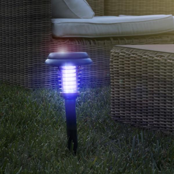 Anti-Moskito-Lampe mit Solar-Technologie | Insektenabwehr | Insektenfalle | Mücken-Vernichter | Mückenabwehr | Sommernächte ohne Insektenstiche | Wasserdicht | Wirkt auf 40 Quadratmeter