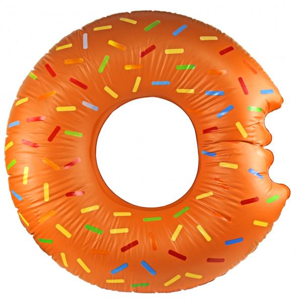 Super riesen Donut mit Biss  119cm multicolor Schwimm-Ring Schwimm-Hilfe Wasser-Spielzeug