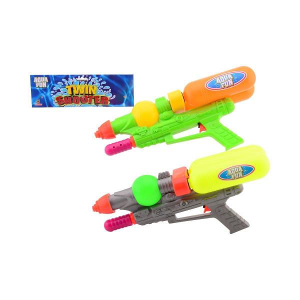 JOHNTOY Aqua Fun Wasserpistole Twin Shooter 42 cm Badespielzeug, mehrfarbig