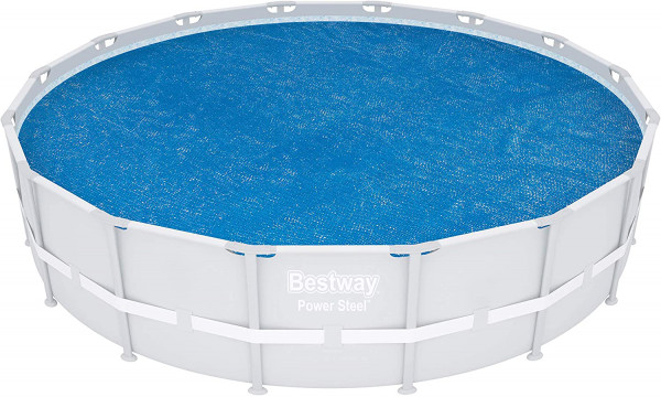 Bestway Flowclear Solarabdeckplane, für Power Steel Pool D:488 cm, Power Steel Deluxe Series Pool D: