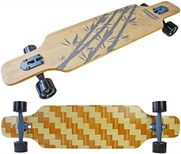 Longboard Komplettboard | hochwertige Boards - ideal für Anfänger & Profis |  Bamboo Square