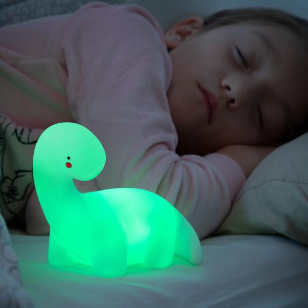 Dinosaurierlampe   wiederaufladbare Lampe im Dinosaurier Look   Nachtlicht   leuchtet in unterschiedlichen Farben   LED-Lampe   Nachttischlampe   Kinderlampe   Tierlampe   Deko für Kinderzimmer   wechselt Lichtfarbe   Schlaflicht   Batteriebetrieben
